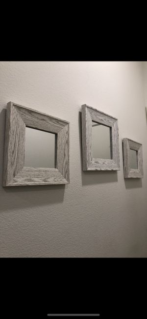 3 wall mirrors different sizes for Sale in Downey, CA
