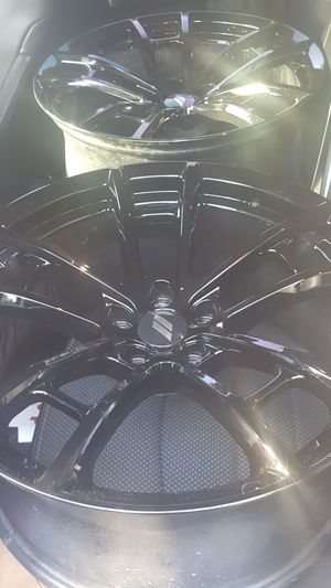 Brand new 2019 painted gloss black srt/daytona/ T/A wheels rims for sale for Sale in Hollywood, FL