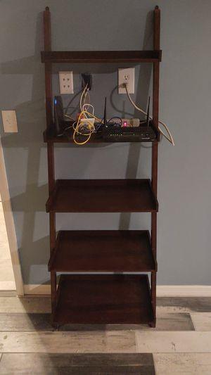 Allen + RothJava Wood 5-Shelf Ladder Bookcase for Sale in PT CHARLOTTE, FL