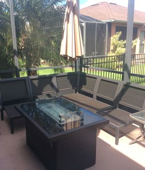 Outdoor couch patio furniture for Sale in Kissimmee, FL