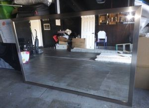 Huge Silver finish mirror for Sale in Jurupa Valley, CA
