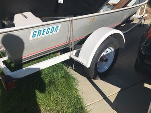 14 foot Gregor Aluminum solid welded boat and trailer for Sale in Hercules, CA