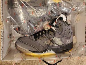 Off white Jordan 5 for Sale in Fairfax, VA