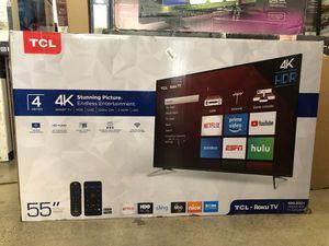 "55"" TCL roku smart 4K led uhd hdr tv for Sale in Pomona, CA"