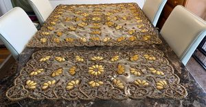 4 pieces Clothes coffee table and table side from India hand made. Very beautiful pieces and heavy new never used for Sale in South San Francisco, CA