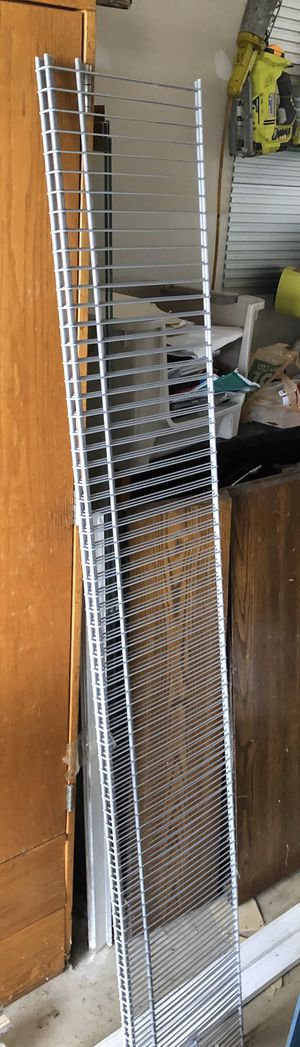 Gray ClosetMaid wire shelves for Sale in South Bloomfield, OH