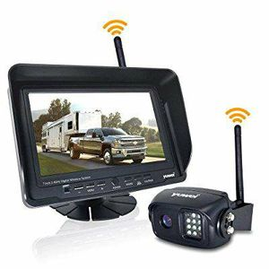 Wireless Backup Camera System Kit, IP69K Waterproof Wireless Rear View Camera + 7'' LCD Wireless Reversing Monitor for Trailer, RV, Bus, Trucks for Sale in Los Angeles, CA