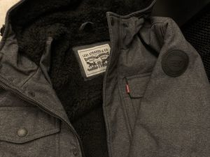 Brand new with tags Levi's Men's Shell Coat Warm Winter Sherpa Lined Hooded Jacket Levi for Sale in Greensboro, NC