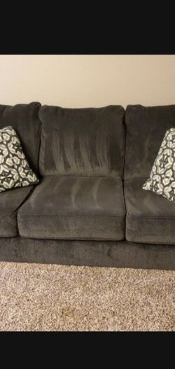 Gray Sofa Pillows Included-Cash Only for Sale in Mountlake Terrace,  WA