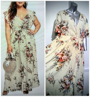 Pretty Boho Floral Maxi Plus Sz 3x, Party dress for Sale in Whittier, CA
