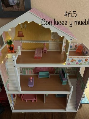 Large childrens wooden dollhouse for Sale in Houston, TX