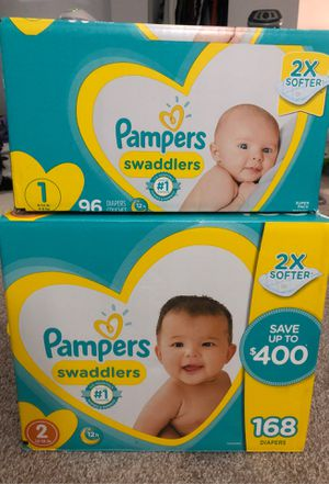 Diapers Size 1 & 2 for Sale in Mesquite, TX