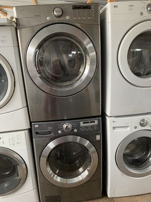 LG front load electric washer and dryer with 3 months warranty free delivery and installation for Sale in Oakland, CA
