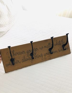 Wood Wall Mounted Coat Rack or Bag Hanger for Sale in Anaheim, CA