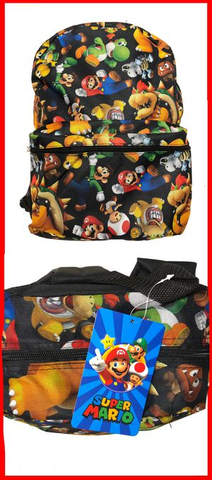 NEW! Super Mario Brothers Luigi Yoshi koopa video games Nintendo Mario kart party DS wii switch Backpack book bag for Sale in Carson, CA