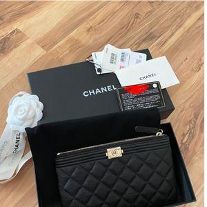 Chanel clutch wallet black for Sale in Denver, CO