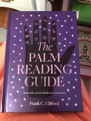 The palm reading guide hard cover book for Sale in Newport News, VA