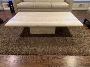 Crema Marfil Marble coffee table for Sale in Wayne, PA