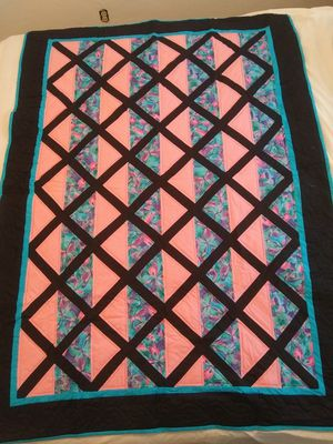 "Pieced Hand Quilted Crib or Lap Quilt 63"" X 44"" for Sale in San Leandro, CA"
