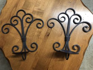 """Metal Wall Candle Holder Set 12"""" x 8"""" for Sale in Turlock, CA"""