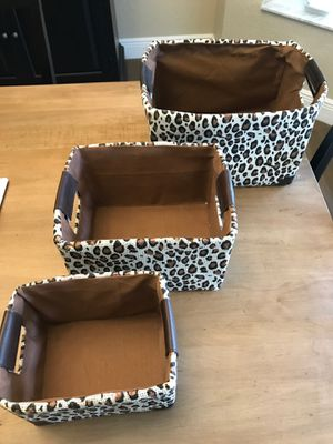 Leopard storage bins for Sale in Davie, FL