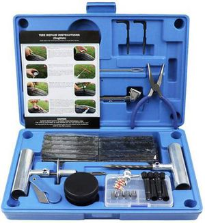 Tire Repair Kit, Heavy Duty Tire Plug Kit Professional Tubeless Flat Puncture Repair Tool Universal for Car, Offroad, ATV, Truck, Tractor, SUV for Sale in Diamond Bar, CA