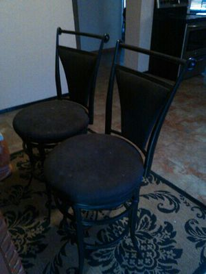 2 nice black bar stools in good condition $65 for both for Sale in Albuquerque, NM