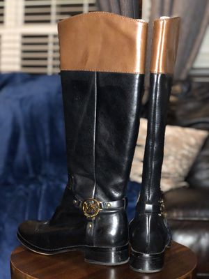 Micheal Kors leather boots small heel for Sale in Pelham, AL