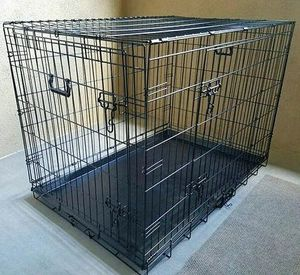 NEW 30x19x21 Inches Tall 2 Doors Pet Cage Dog Kennel Crate Foldable Portable Fold Flat Puppy Small to Medium size for Sale in Los Angeles, CA