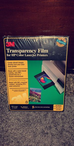 3M Transparency Film for HP Color LaserJet NEW for Sale in Goldsboro, PA