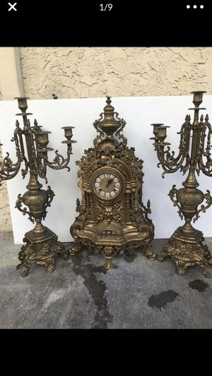 Antique Clocks brass made Italian mechanical for Sale in Los Angeles, CA
