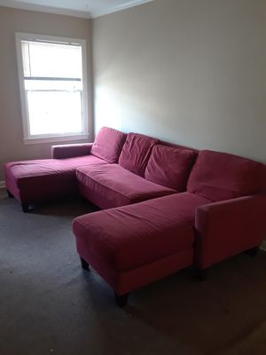 Nice red sectional couch for Sale in Houston, TX