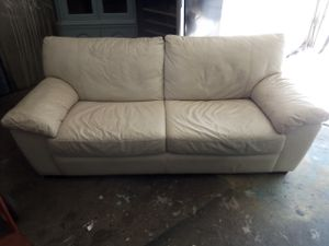 White Leather Sofa/Couch for Sale in Washington, DC