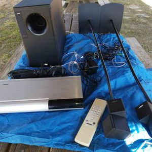 See Video Bose Lifestyle Model 20 Mini Cubes Subwoofer 6 CD Changer Remote Stands more for Sale in Alexandria, VA