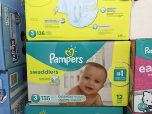 Pampers swaddlers size 3 for Sale in Garland, TX
