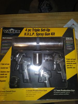 4 piece Triple Spray Gun set for Sale in Tyler, TX