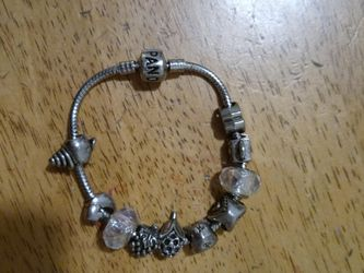 PANDORA BRACELET with 11 Charms Basically Brand New Got For My Girlfriend But We Broke Up for Sale in Peabody,  MA