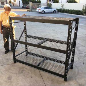 New Husky 65x24x54 inches tall 3 shelf heavy duty welded storage unit 3600 lbs weigt capacity storage rack heavy duty for Sale in Covina, CA