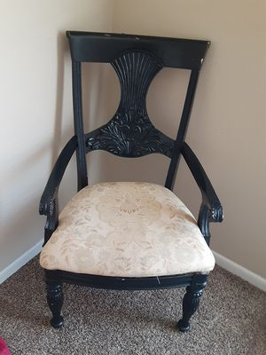 BLACK WOODEN CHAIR ! need gone asap negotiate with me for Sale in Houston, TX