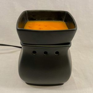 Black Ceramic Scentsy Candle Warmer & Extra Scentsy Wax Bars/Scented Wax Cubes for Sale in Murray, UT