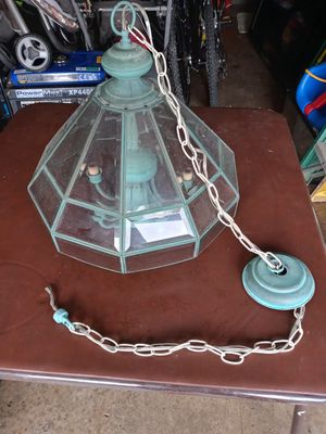 Glass and Metal Chandelier for Sale in Gahanna, OH