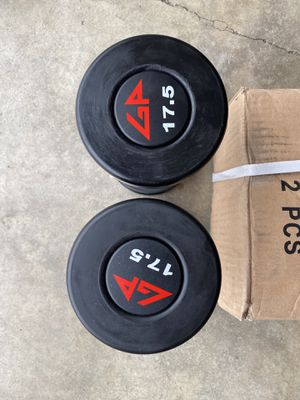 New GP commercial grade urethane dumbbells 17.5lbs pair for Sale in Walnut, CA