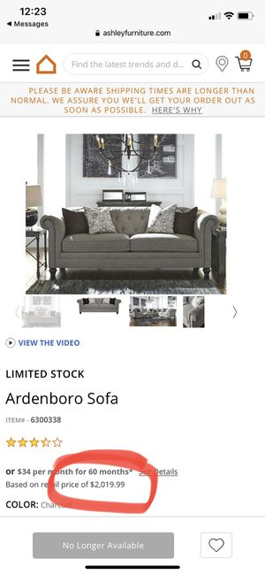 Ardenboro Sofa - Set of 2 for Sale in Vancouver, WA