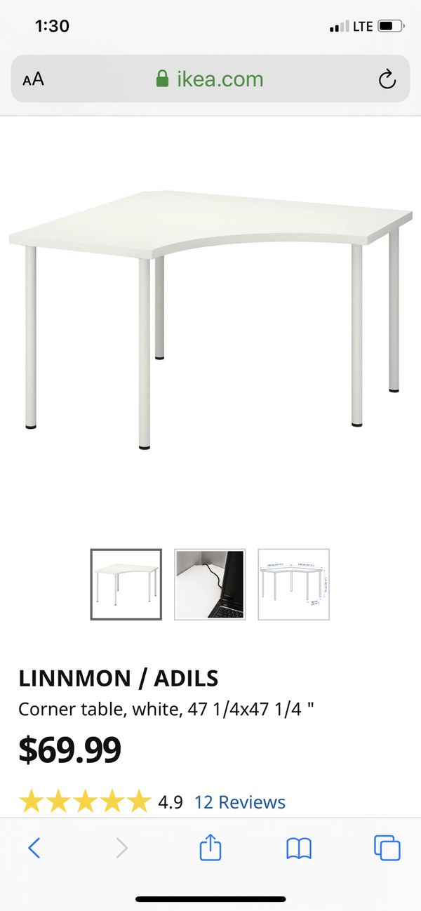 IKEA corner craft table