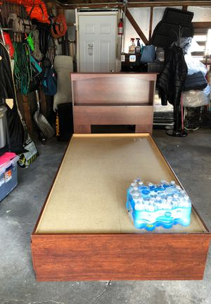 Bed frame with drawer and bookshelve. for Sale in Chicago, IL
