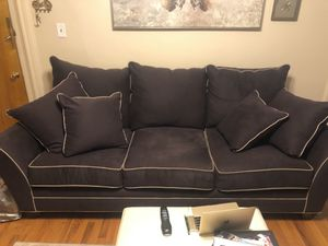 Raymour and Flanigan 2 set couch; love seat and 3 panel sofa... like new! for Sale in New York, NY
