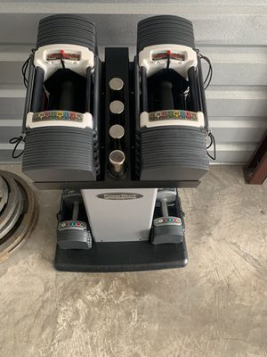 Power block adjustable dumbbells for Sale in Fort Worth, TX