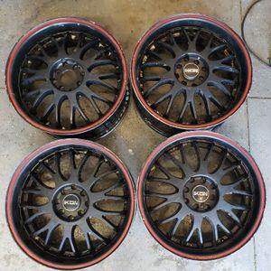 17 ikon black Mesh Wheels 4 lug universal for Sale in Chino, CA