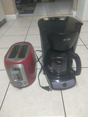 a coffee maker and toaster in good condition for Sale in St. Louis, MO