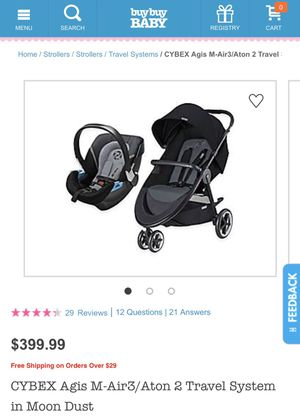 Cyber Agius-air3/ Aton 2 Travel system Baby Stroller and car seat for Sale in Las Vegas, NV
